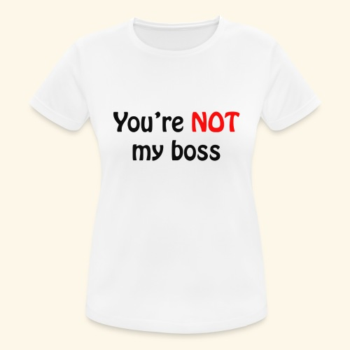 boss - Frauen T-Shirt atmungsaktiv