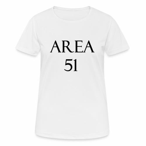 Area51 - tuotesarja - naisten tekninen t-paita