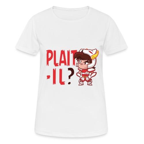 Seiya - Plaît-il ? (texte rouge) - T-shirt respirant Femme
