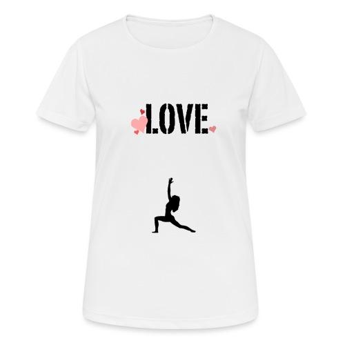 j'aime le yoga . - T-shirt respirant Femme