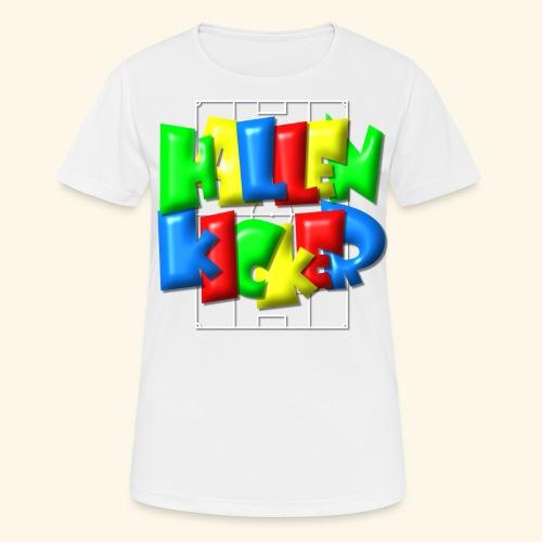 Hallenkicker im Fußballfeld - Balloon-Style - Frauen T-Shirt atmungsaktiv