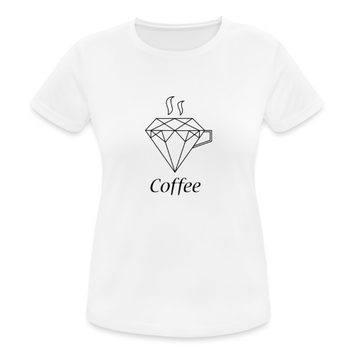 Coffee Diamant - Frauen T-Shirt atmungsaktiv