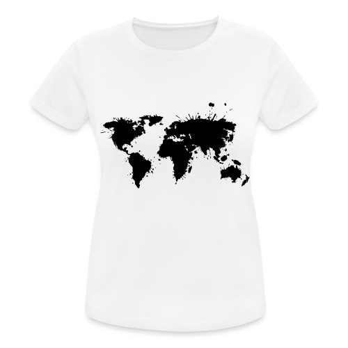 Weltkarte Splash - Frauen T-Shirt atmungsaktiv