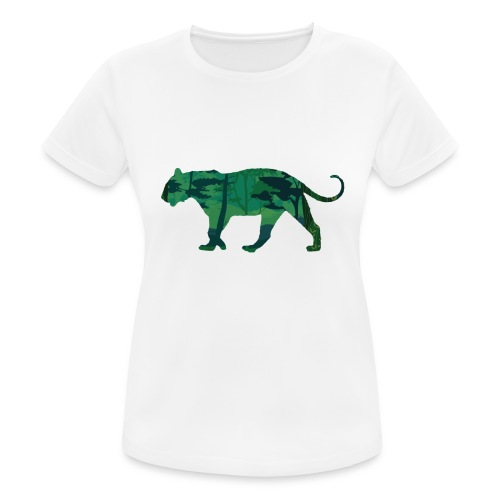 Tiger in the jungle... - T-shirt respirant Femme