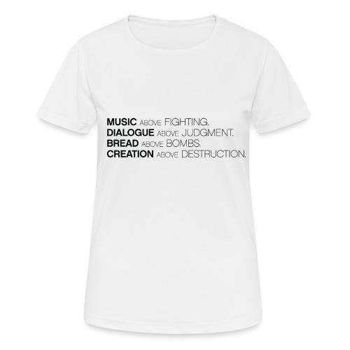 slogan png - vrouwen T-shirt ademend