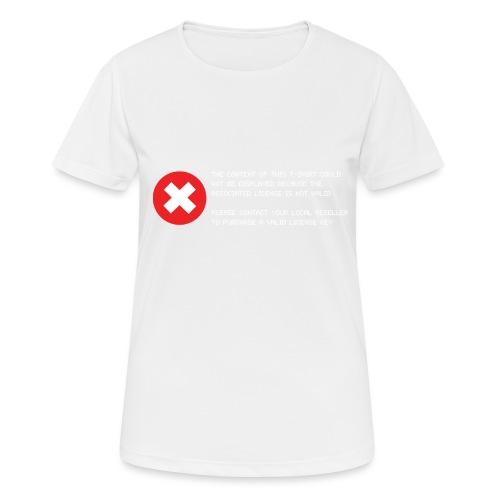 T-shirt Error - Maglietta da donna traspirante