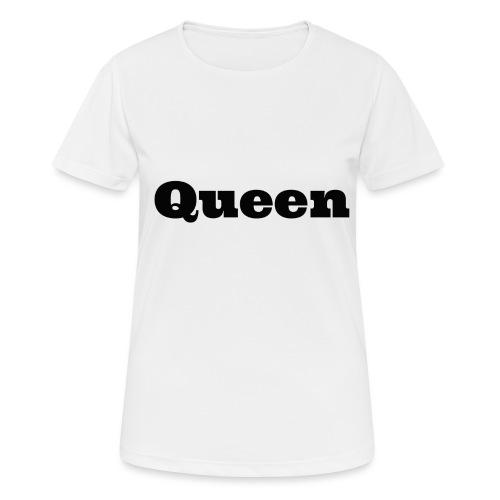 Snapback queen grijs/zwart - vrouwen T-shirt ademend