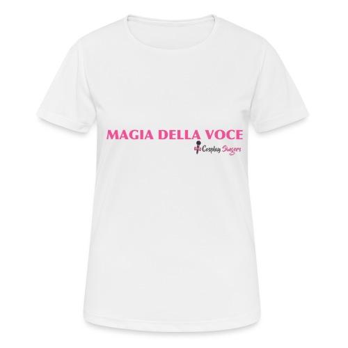 magiadellavocegrande - Maglietta da donna traspirante