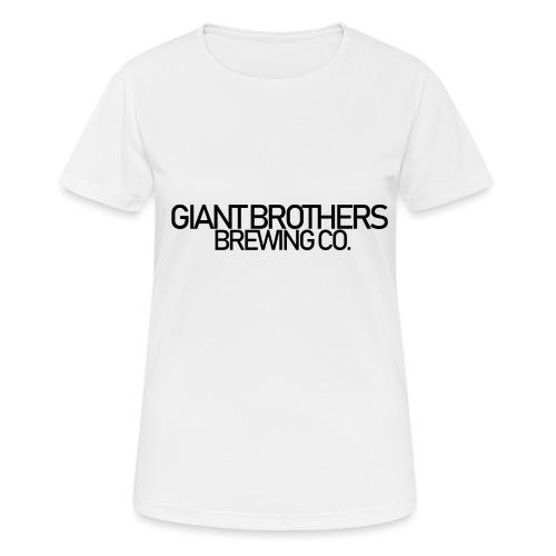 Giant Brothers Brewing co SVART - Andningsaktiv T-shirt dam
