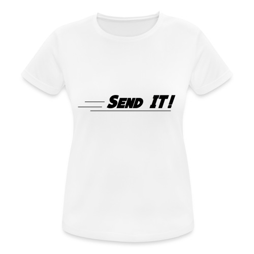 send it logo white - Women's Breathable T-Shirt