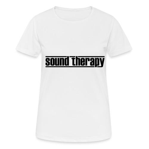 Sound Therapy (black) - Andningsaktiv T-shirt dam