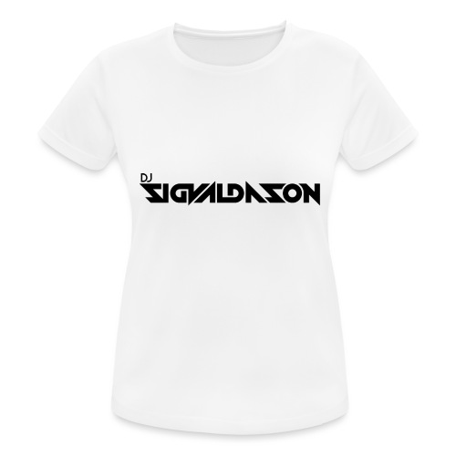 DJ logo sort - Dame T-shirt svedtransporterende