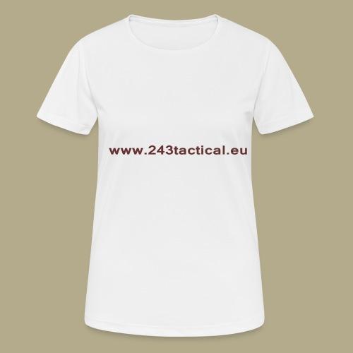 .243 Tactical Website - Vrouwen T-shirt ademend actief