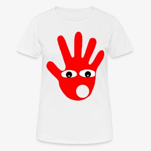 Hände mit Augen - T-shirt respirant Femme