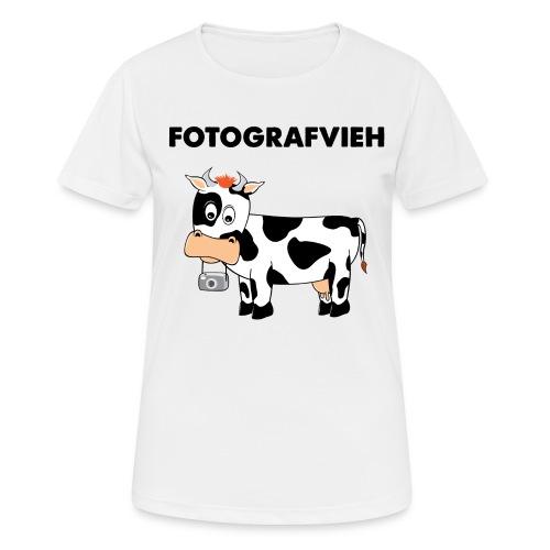 Fotografvieh - Frauen T-Shirt atmungsaktiv