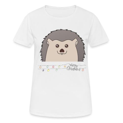 Hed wünscht Merry Christmas - Frauen T-Shirt atmungsaktiv