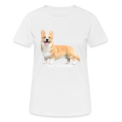 Topi the Corgi - White text - Women's Breathable T-Shirt