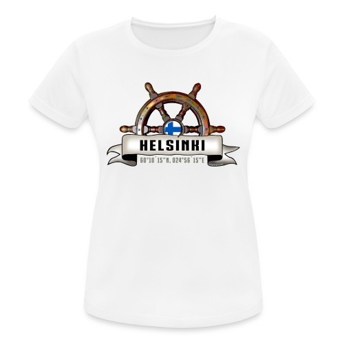 Helsinki Ruori - Merelliset tekstiilit ja lahjat - naisten tekninen t-paita