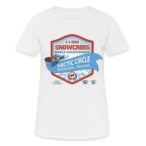 MM Snowcross 2020 virallinen fanituote - naisten tekninen t-paita