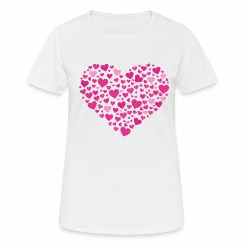 Herz aus Herzal - Frauen T-Shirt atmungsaktiv