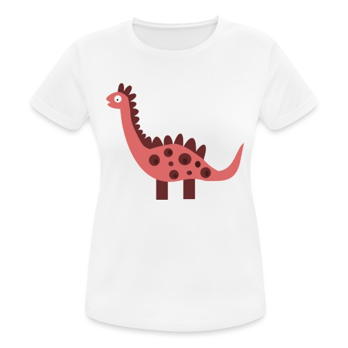 Dino pink - Women's Breathable T-Shirt