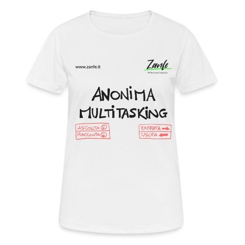Anonima Multitasking - Maglietta da donna traspirante