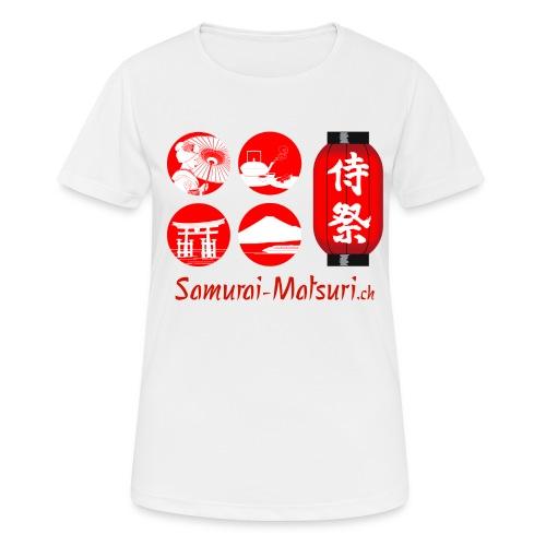 Samurai Matsuri Festival - Frauen T-Shirt atmungsaktiv