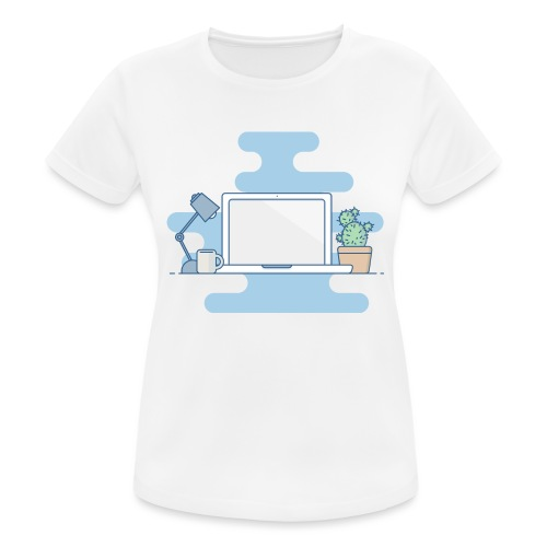 Arbeitstisch - Frauen T-Shirt atmungsaktiv