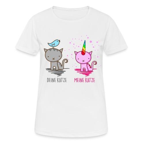 Vorschau: Deine Katze vs. Meine Katze - Frauen T-Shirt atmungsaktiv