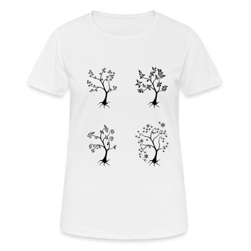 Vuodenajat - naisten tekninen t-paita