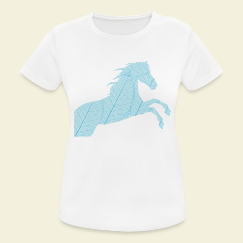 Cheval feuille - T-shirt respirant Femme