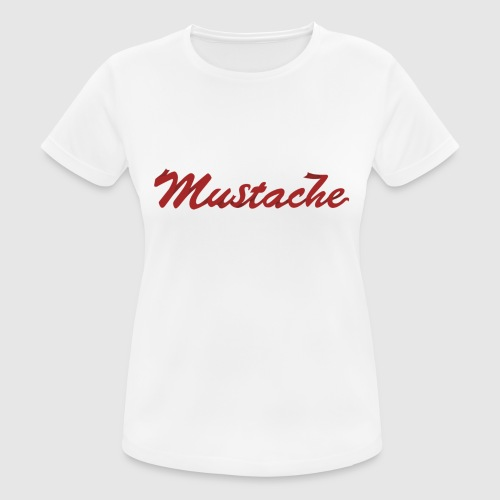 Red Mustache Lettering - Women's Breathable T-Shirt