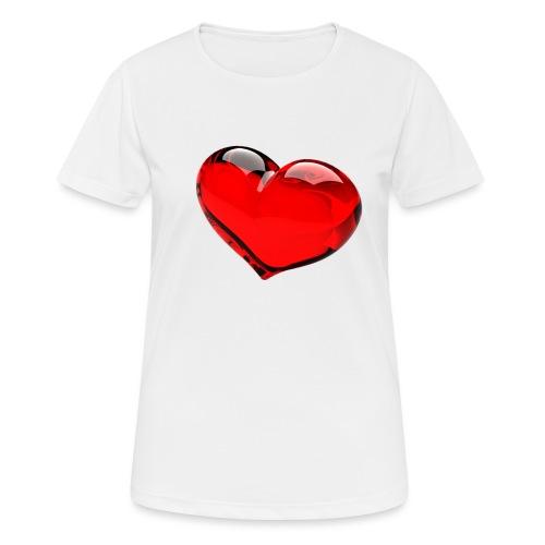 serce 3D - Koszulka damska oddychająca