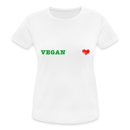 be my VEGANtine - white - Women's Breathable T-Shirt