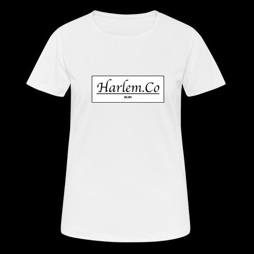 Harlem Co logo White and Black - Women's Breathable T-Shirt