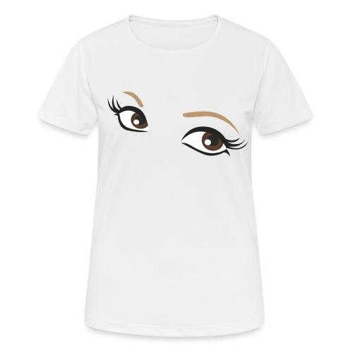 oczy - Koszulka damska oddychająca