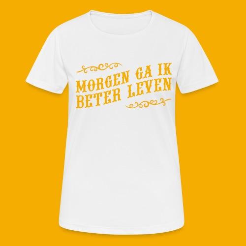 tshirt yllw 01 - vrouwen T-shirt ademend