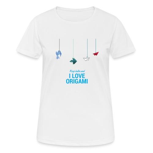 keep kalm and love origami versione estate - Maglietta da donna traspirante