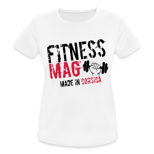 Fitness Mag made in corsica 100% Polyester - T-shirt respirant Femme