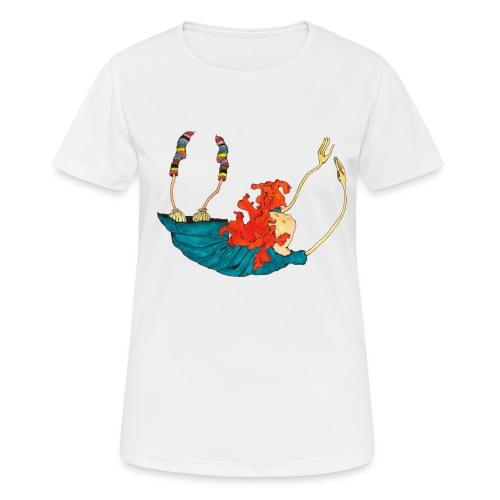 Frit fald - Dame T-shirt svedtransporterende