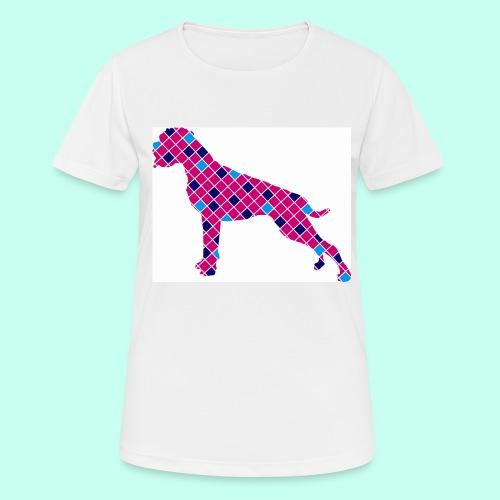 Boxer karriert / Digitaldruck - Frauen T-Shirt atmungsaktiv