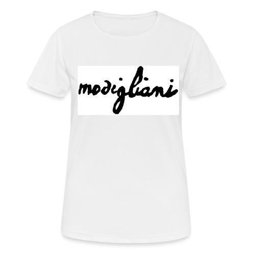 firm_white_black - Maglietta da donna traspirante