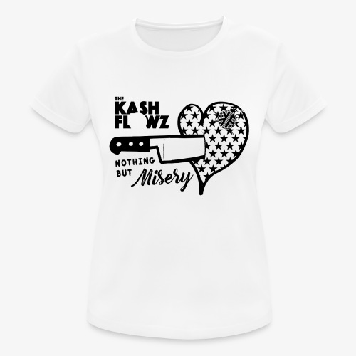 Nothing But Misery Knife Heart Black - T-shirt respirant Femme