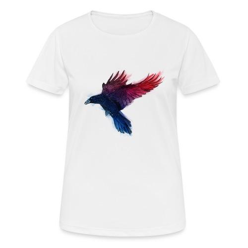 Watercolor Raven - Frauen T-Shirt atmungsaktiv