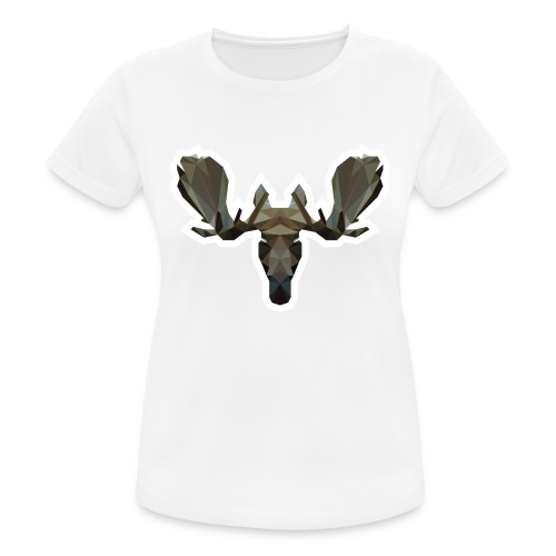 Low Poly Moosehead - vrouwen T-shirt ademend