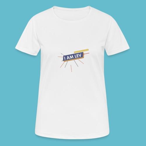 I AM LEV Banner - Vrouwen T-shirt ademend actief