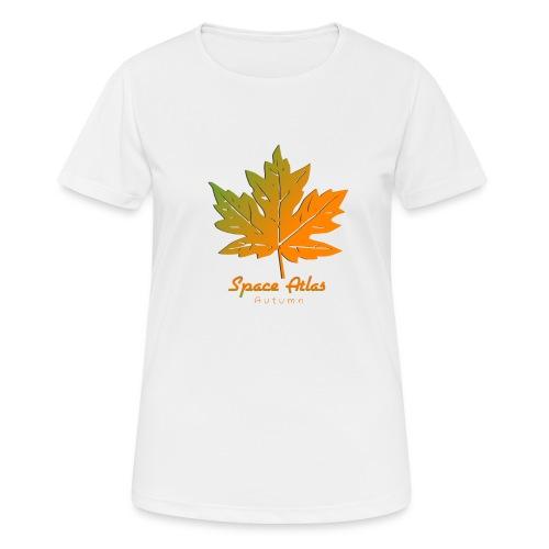 Space Atlas Long Sleeve T-shirt Autumn Leaves - Dame T-shirt svedtransporterende