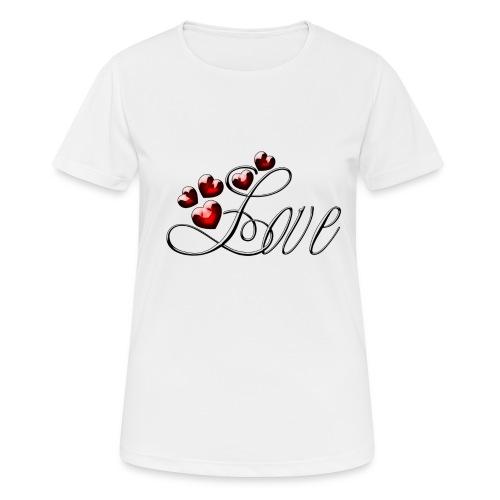 Love Herz - Frauen T-Shirt atmungsaktiv