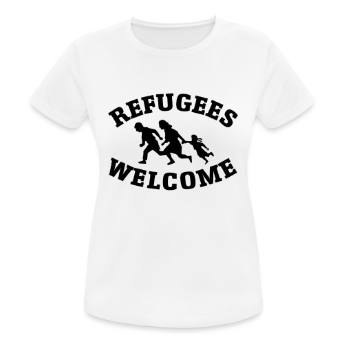 Refugees Welcome - T-shirt respirant Femme
