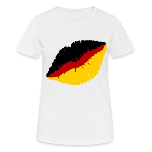 Deutschland Lippen Motiv - Frauen T-Shirt atmungsaktiv